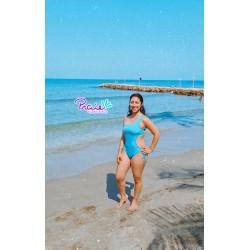 Vestido de Baño Enterizo PRAIE REF: 8015 Un Hombro Trikini