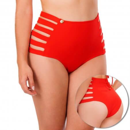 Panty Alto de Vestido de Baño PRAIE REF: 1838B3 Pétalos