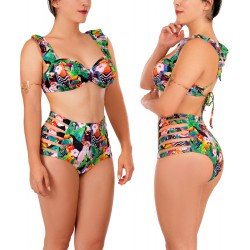 PRAIE Swimsuit Top REF: 1941A Aves Colors