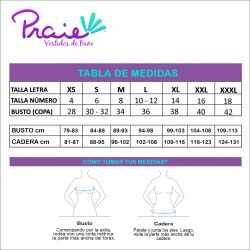 PRAIE High Waisted Swim Bottom REF: 1735B Retro Elástico