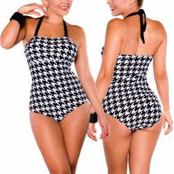 PRAIE One piece Swimsuit REF: 1217 Gallineto *Tummy Control