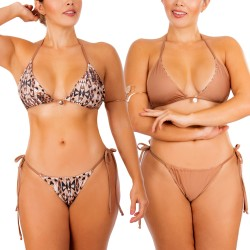 Bikini doble faz PRAIE REF: 2311A Mix Match Bronceo
