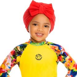 PRAIE Turban REF: TB002A Moño Red Swim cap Hair Band Bows