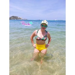 PRAIE High Waisted Swim Bottom REF: 1838B1 Pétalos *Tummy