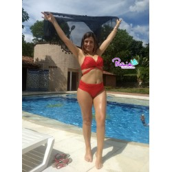 PRAIE High Waist Bikini REF: 1612B Cruce *Two Uses