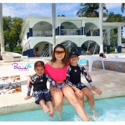 PRAIE Bikini Swimsuit REF: 1318 Escote Bardot Biflora Boleros