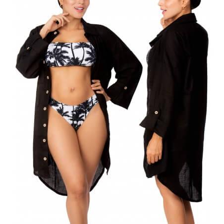 PRAIE Beachwear REF: 2335 Camisa Lino