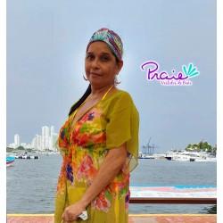 PRAIE Turban REF: TB001D1 Biflora Hair Band Bows Accessory Lycra