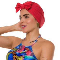 PRAIE Turban REF: TB002A Moño Red Swim cap Hair Band Bows
