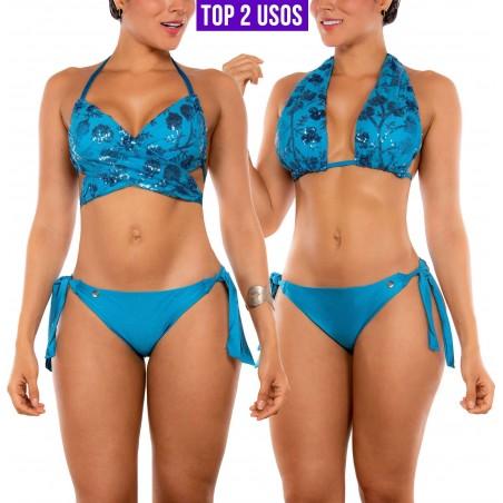 Bikini PRAIE REF: 2217 Diamante (Turquesa)