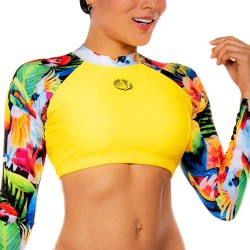 PRAIE Long Sleeve Swim Top REF: 2135A Pájaros