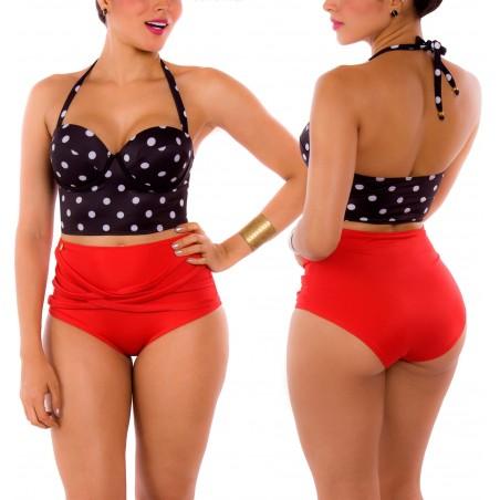PRAIE High waist Bikini REF: 1010 Puntos