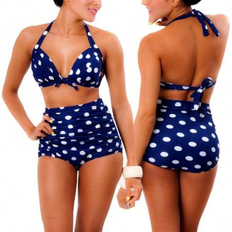 PRAIE High waist Bikini REF: 1017 Lunares