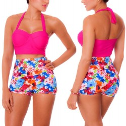 PRAIE High waist Bikini REF: 1104 Happy *Tummy Control