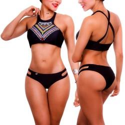 Vestido de Baño Bikini PRAIE REF: 1302A Halter Étnico