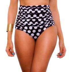 Panty Alto de Vestido de Baño PRAIE REF: 0006B Retro Puntos
