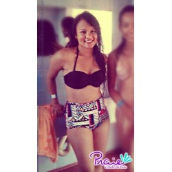 PRAIE High Waisted Swim Bottom REF: 9014B Retro Étnico