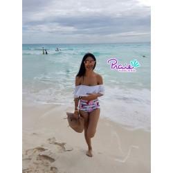 PRAIE High waist Bikini REF: 1511 Bardot Retro