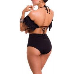 PRAIE High waist Bikini REF: 1415 Bardot Ruche