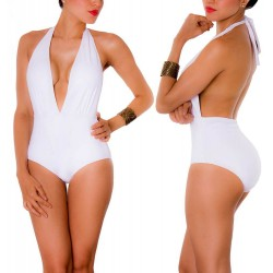 PRAIE One piece Swimsuit REF: 1408 Escote V Profundo