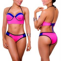 PRAIE Bikini Swimsuit REF: 1435 Corset Strapless