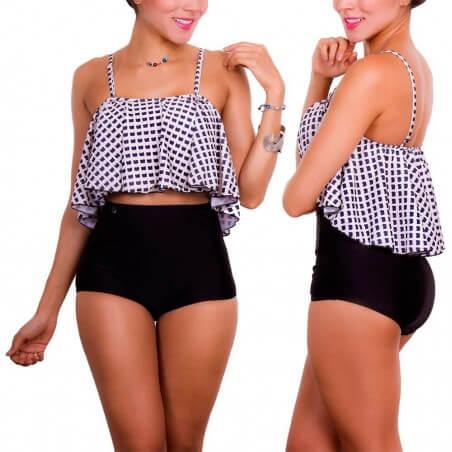 Vestidos De Baño Trajes Bikinis Plus Copas Panty Altos 1605