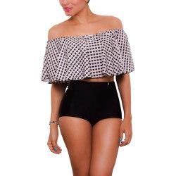 PRAIE High waist Bikini REF: 1605 Blouse *Tummy Control