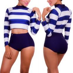 PRAIE Long Sleeve Swim Tee High Waist REF: 1603 Long *Tummy