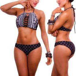 PRAIE Bikini Swimsuit REF: 1524 Halter Tiras
