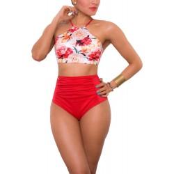 Vestido de Baño Bikini RETRO PRAIE REF: 1621 Halter Flores
