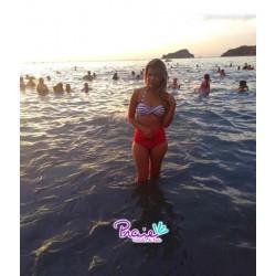 PRAIE High waist Bikini REF: 9013 Marinero