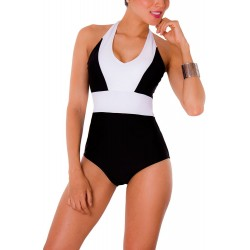 PRAIE One piece Swimsuit REF: 1402 Halter *Tummy Control