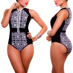 PRAIE One piece Swimsuit REF: 1522 Perfect Arabescos Cierre