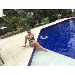 PRAIE One piece Swimsuit REF: 1645 Estiliza Rayas