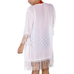 PRAIE Beachwear REF: 1221 Kimono Flecos