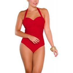 Vestido de Baño Enterizo PRAIE REF: 1218 Drapeado Recogido