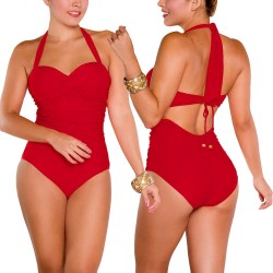 PRAIE One piece Swimsuit REF: 1218 Draped Shirred