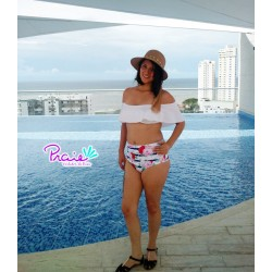 PRAIE High Waisted Swim Bottom REF: 1511B2 Navy Floral *Tummy