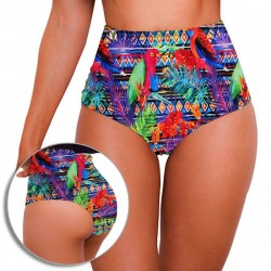 Panty Alto de Vestido de Baño PRAIE REF: 1511B1 Retro Pericos