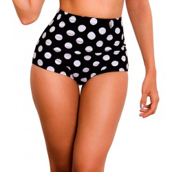 PRAIE High Waisted Swim Bottom REF: 9012B Retro Cachetero Bolas