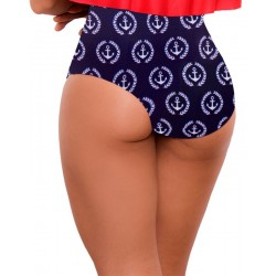 PRAIE High Waisted Swim Bottom REF: 1511B3 Retro Marinero