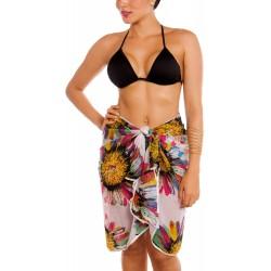 PRAIE Beachwear REF: 9100 Pareo Flores