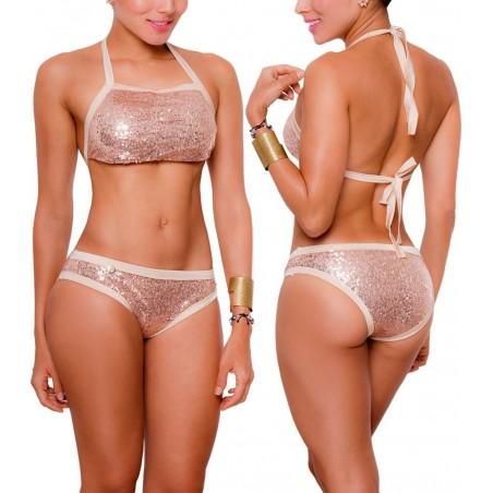 Vestido de Baño Bikini PRAIE REF: 1701 Destello Brillante