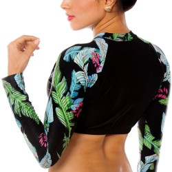 PRAIE Long Sleeve Swim Top REF: 2135A Natural